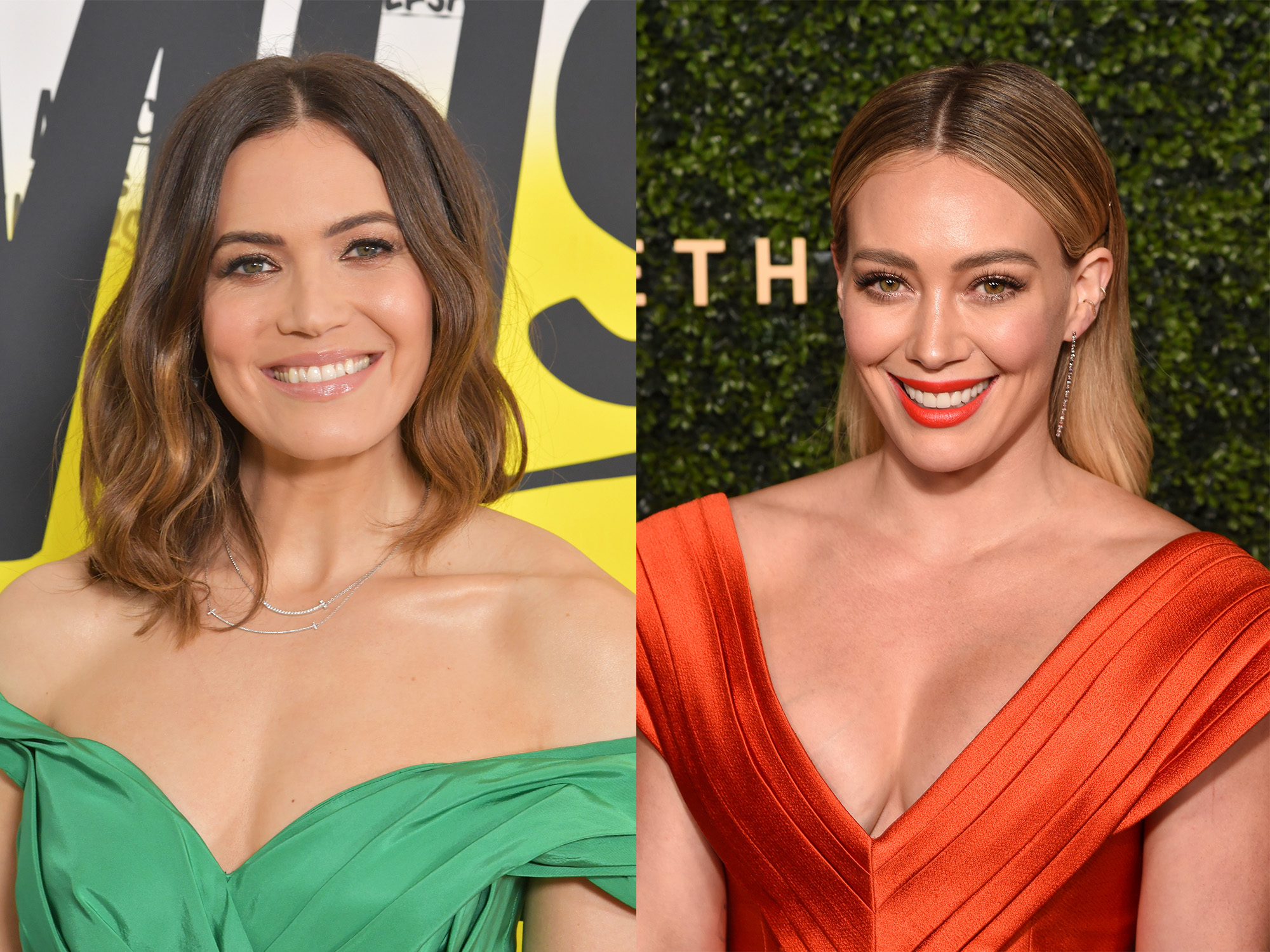 Mandy Moore and Hilary Duff