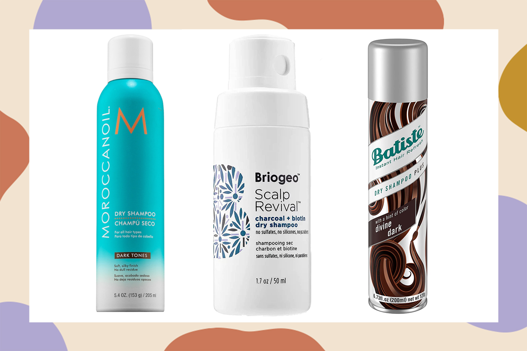 best drugstore dry shampoos for dark hair