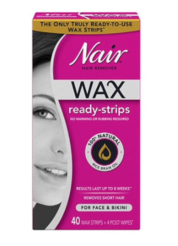 nair ready to wax strips; sugaring vs. waxing