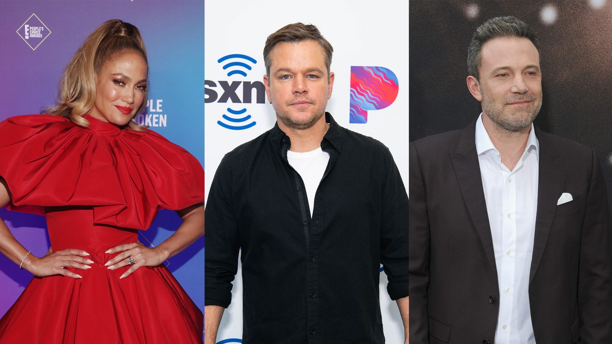 Jennifer Lopez, Matt Damon, and Ben Affleck