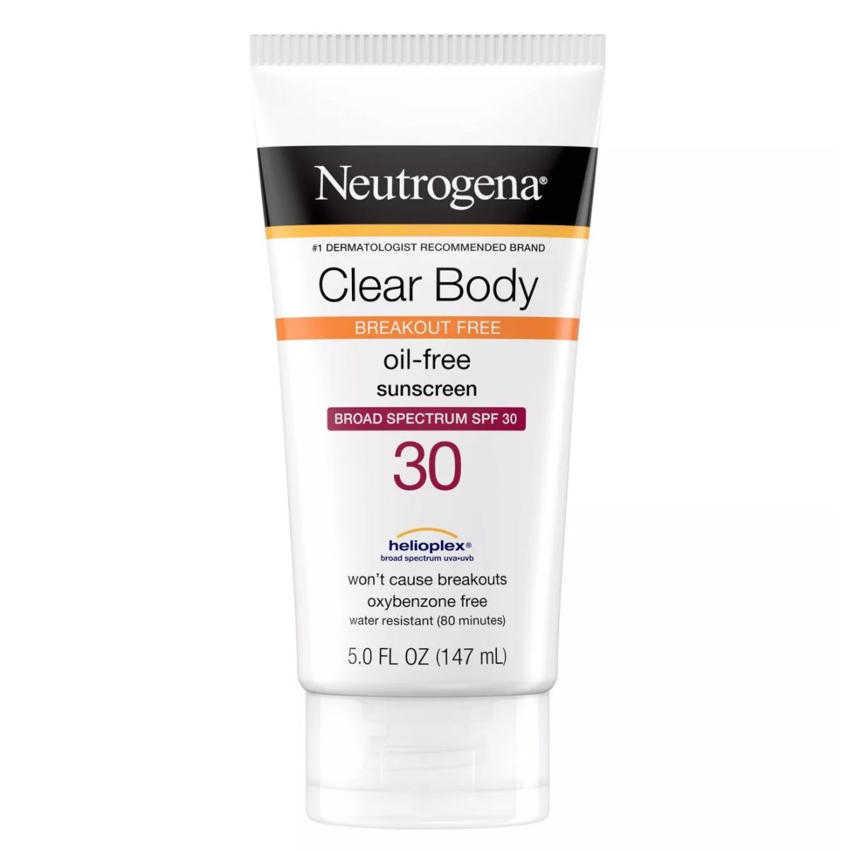 best sunscreens body acne neutrogena drugstore