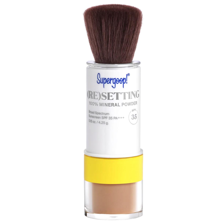 best sunscreens supergoop spf powder brush
