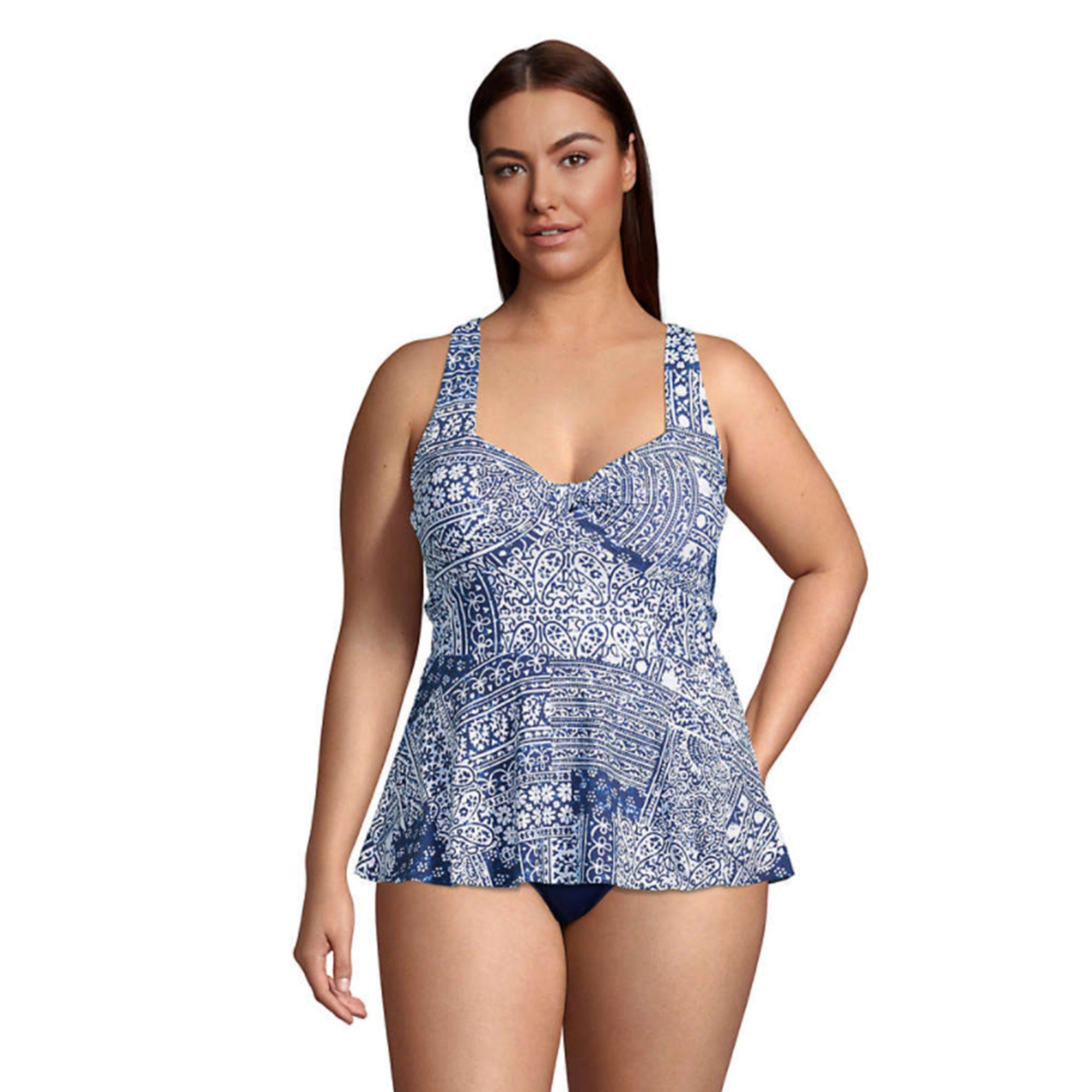 lands-end-tankini-swimsuit, plus-size-swimsuit