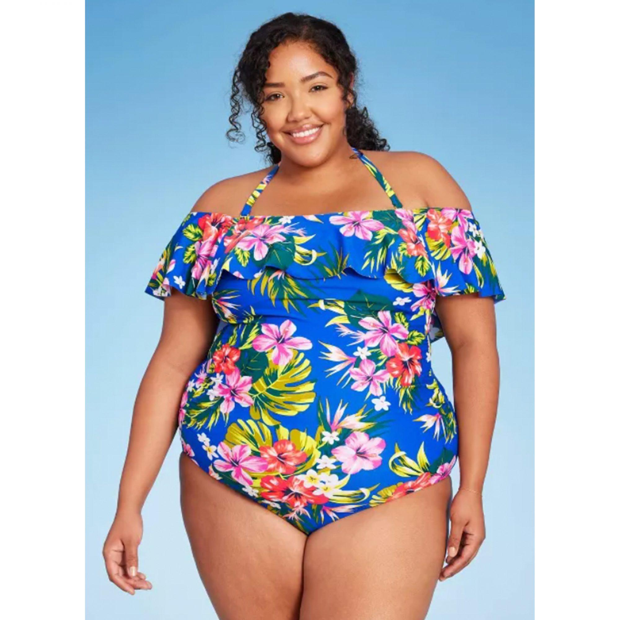 plus-size-floral-one-piece, best-plus-size-swimsuits
