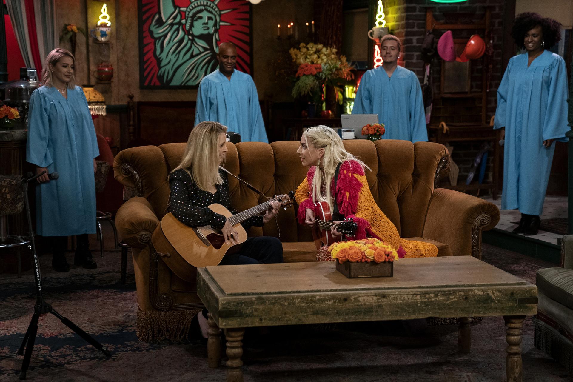 Lisa Kudrow and Lady Gaga