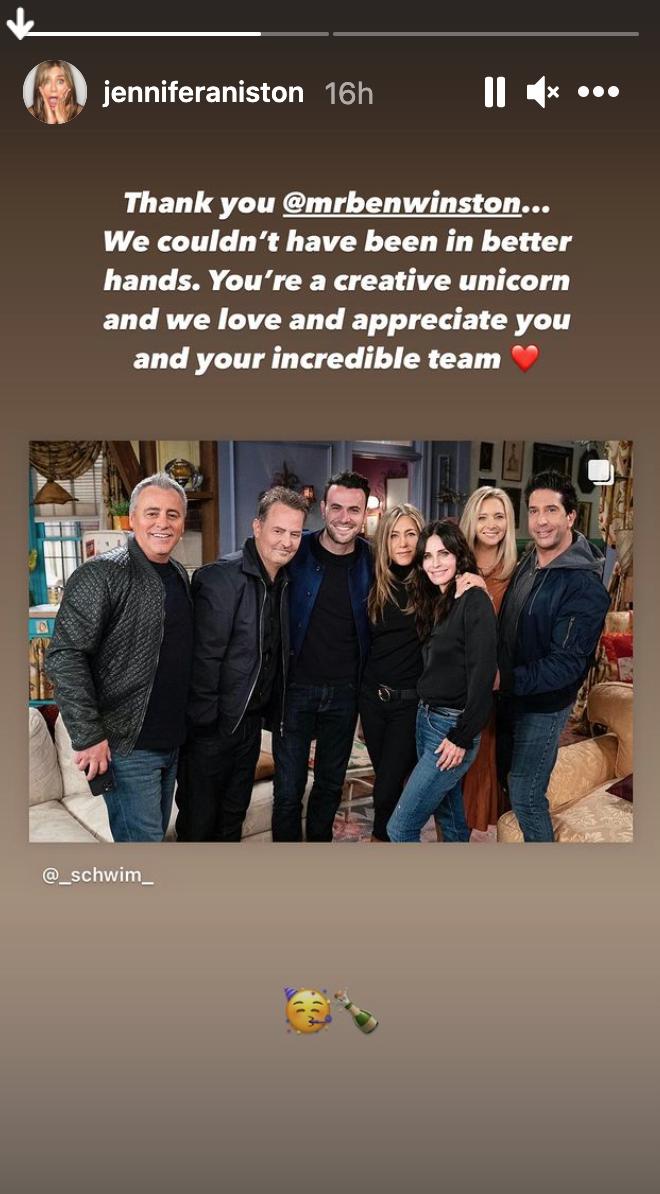 Jennifer Aniston Instagram screenshot