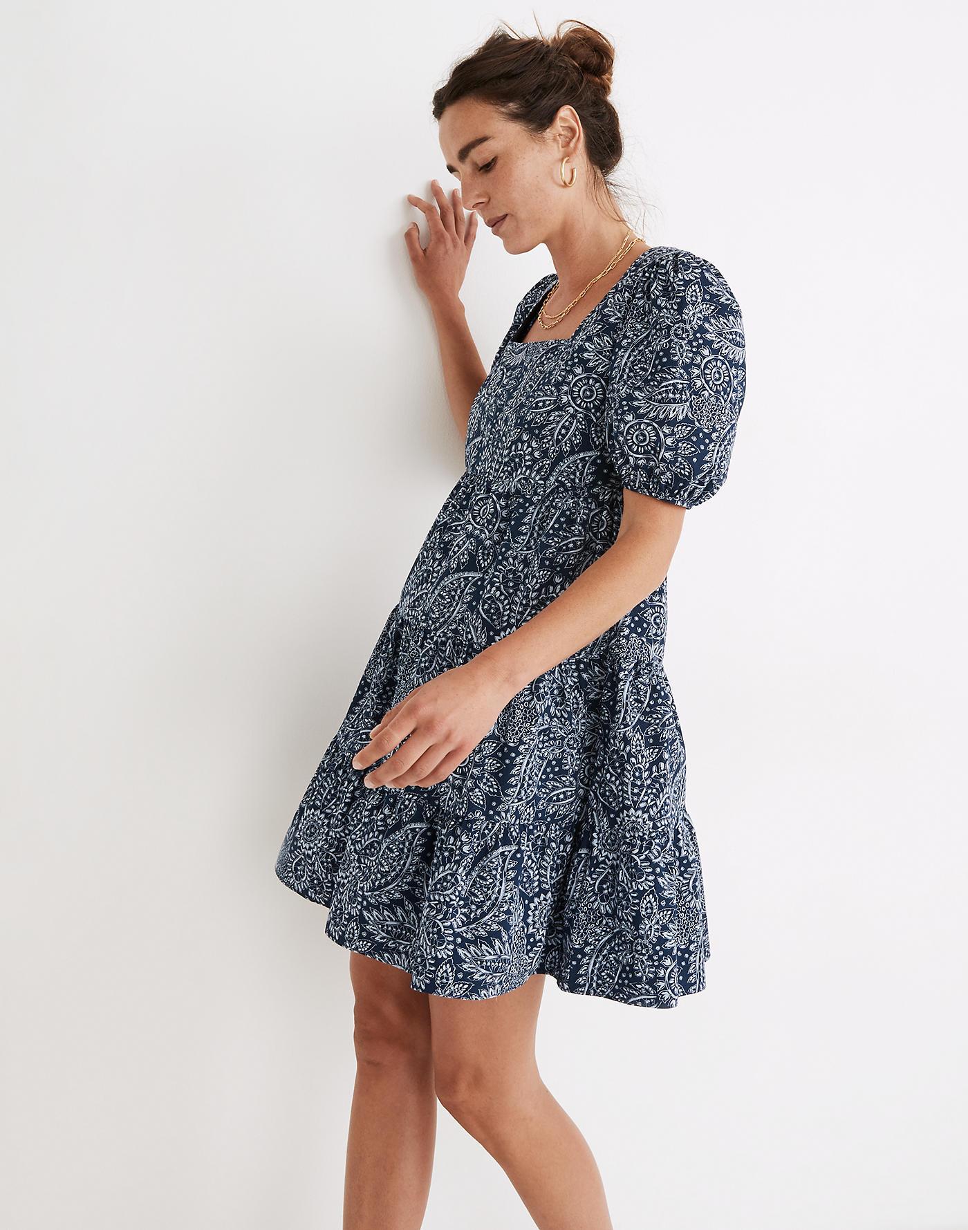 madewell puff sleeve dress
