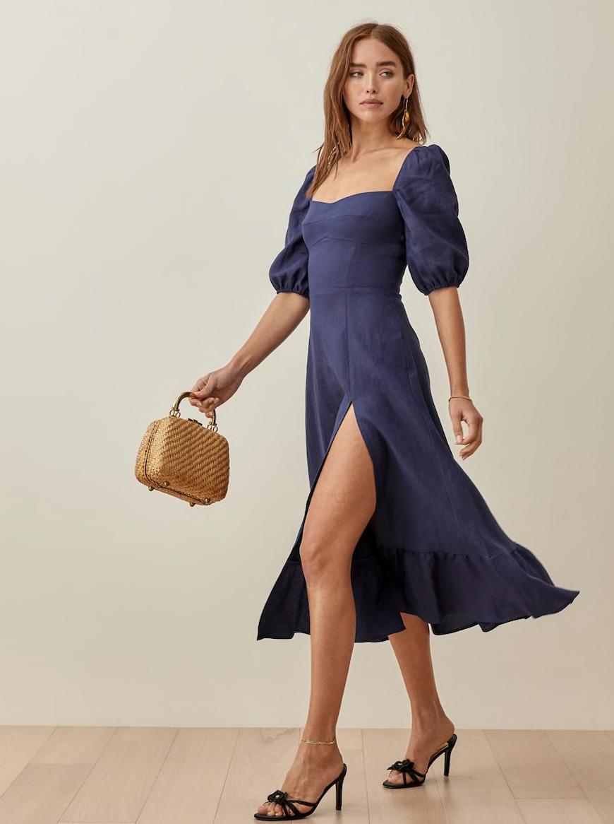reformation puff sleeve dress