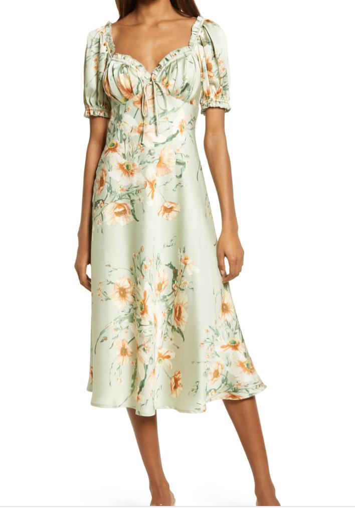 best floral puff sleeve dress