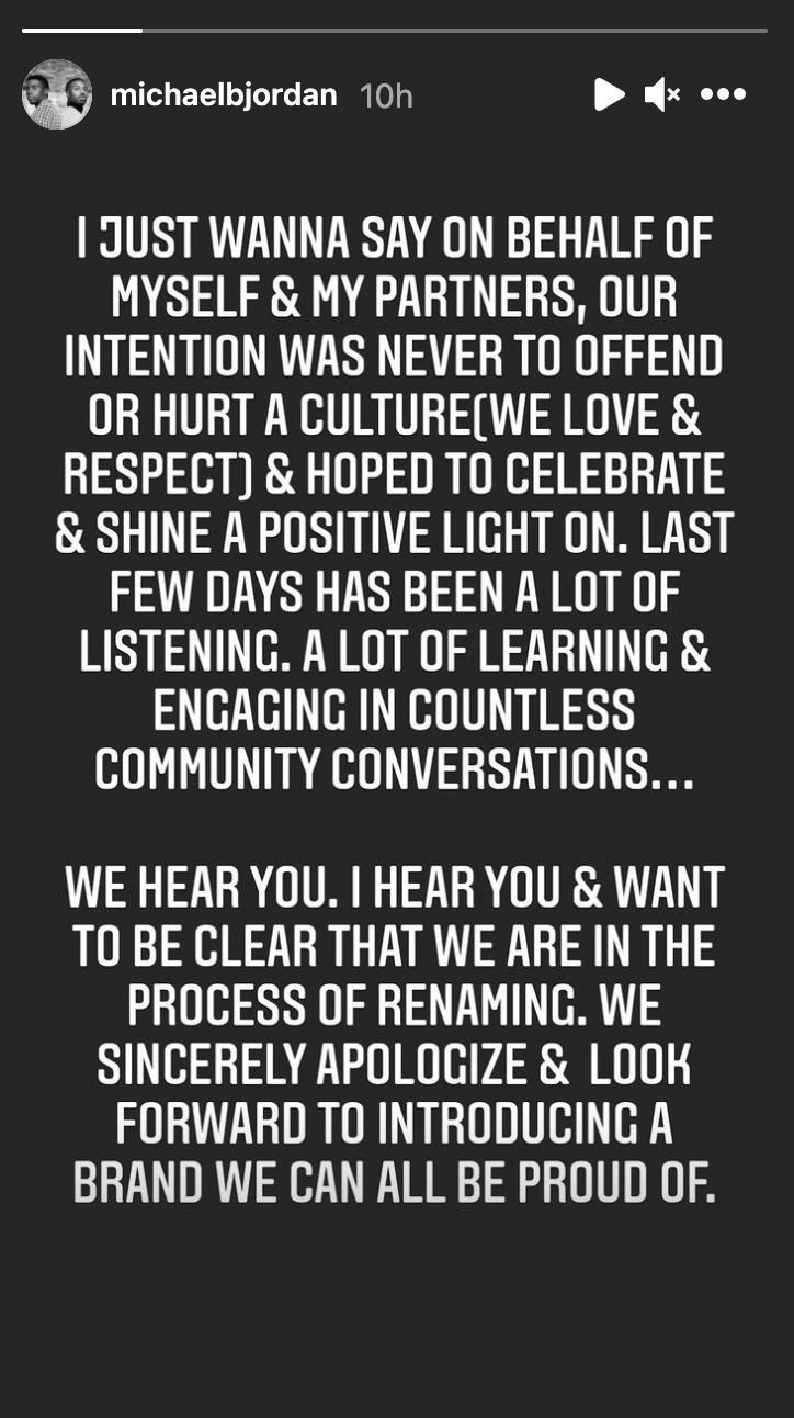 michael b jordan apology