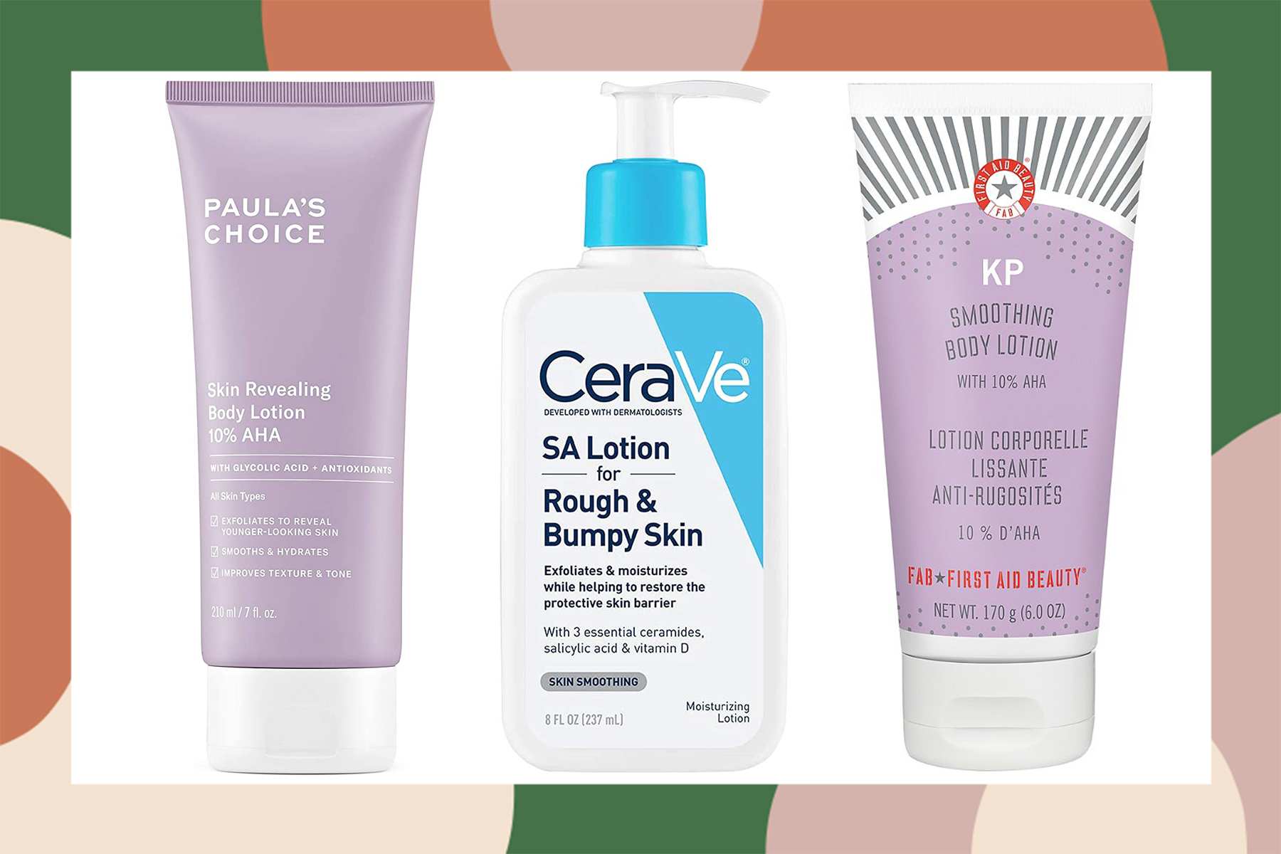 body exfoliators smoothing lotions creams wipes serums