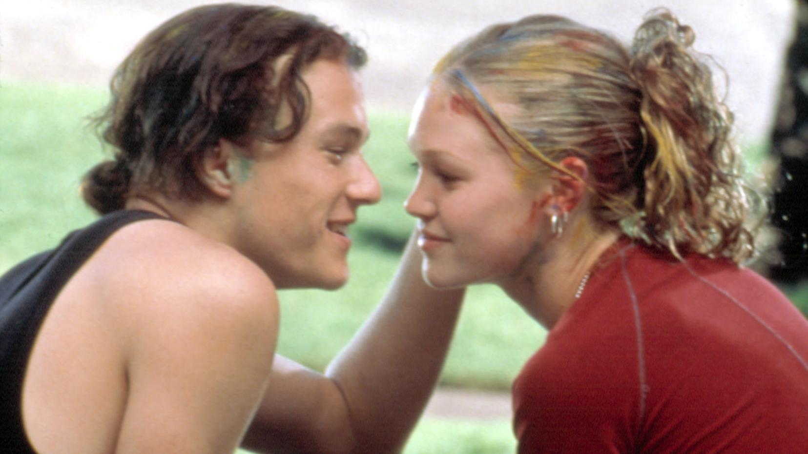 Heath Ledger and Julia Stiles