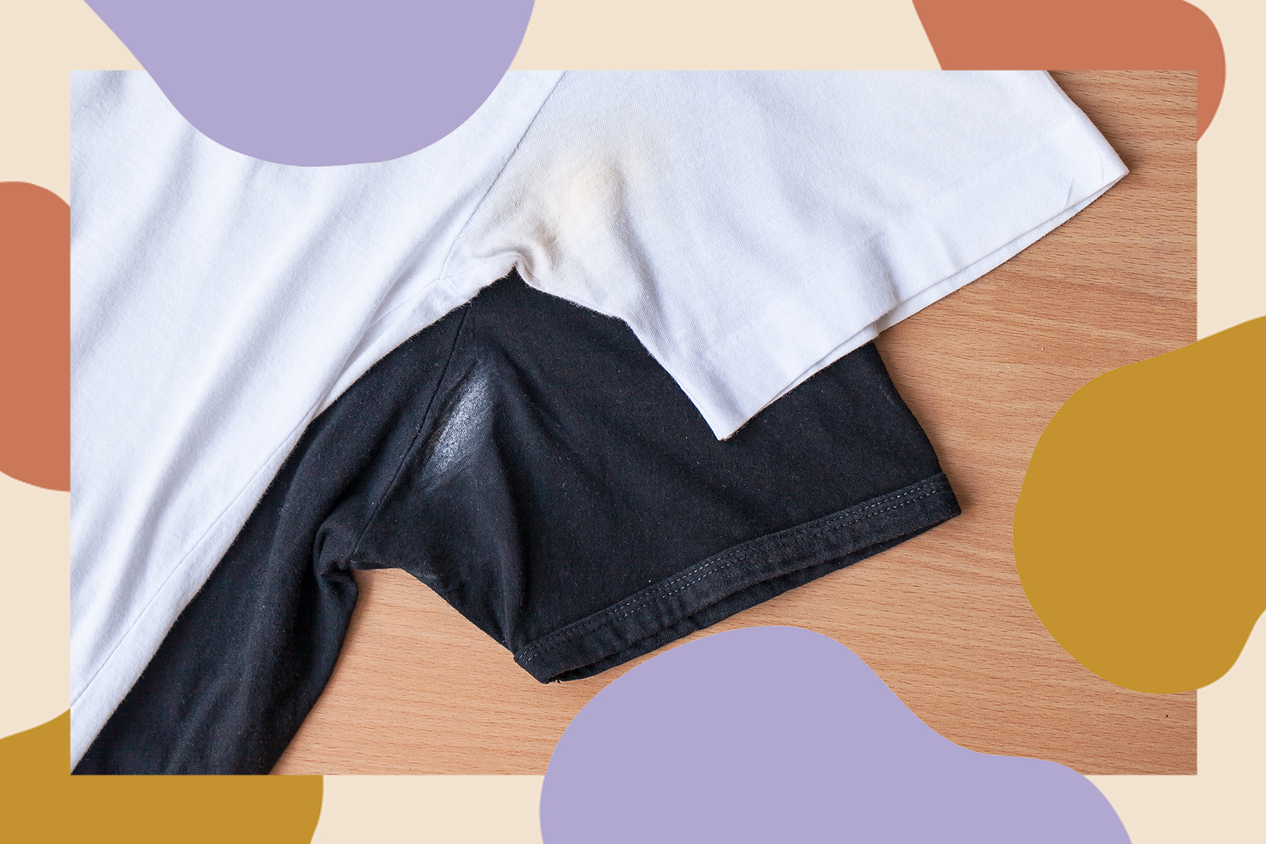 how to get deodorant stains out of shirts