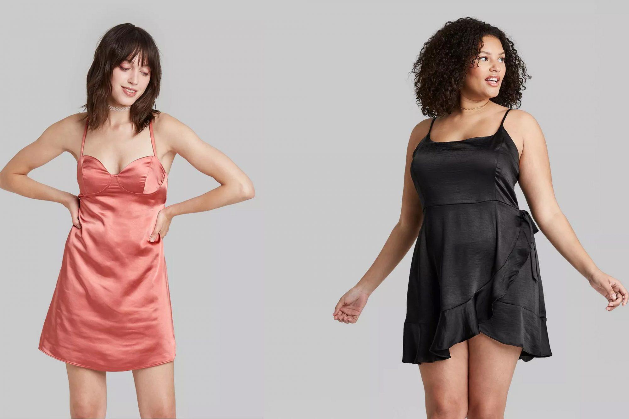 target satin dresses