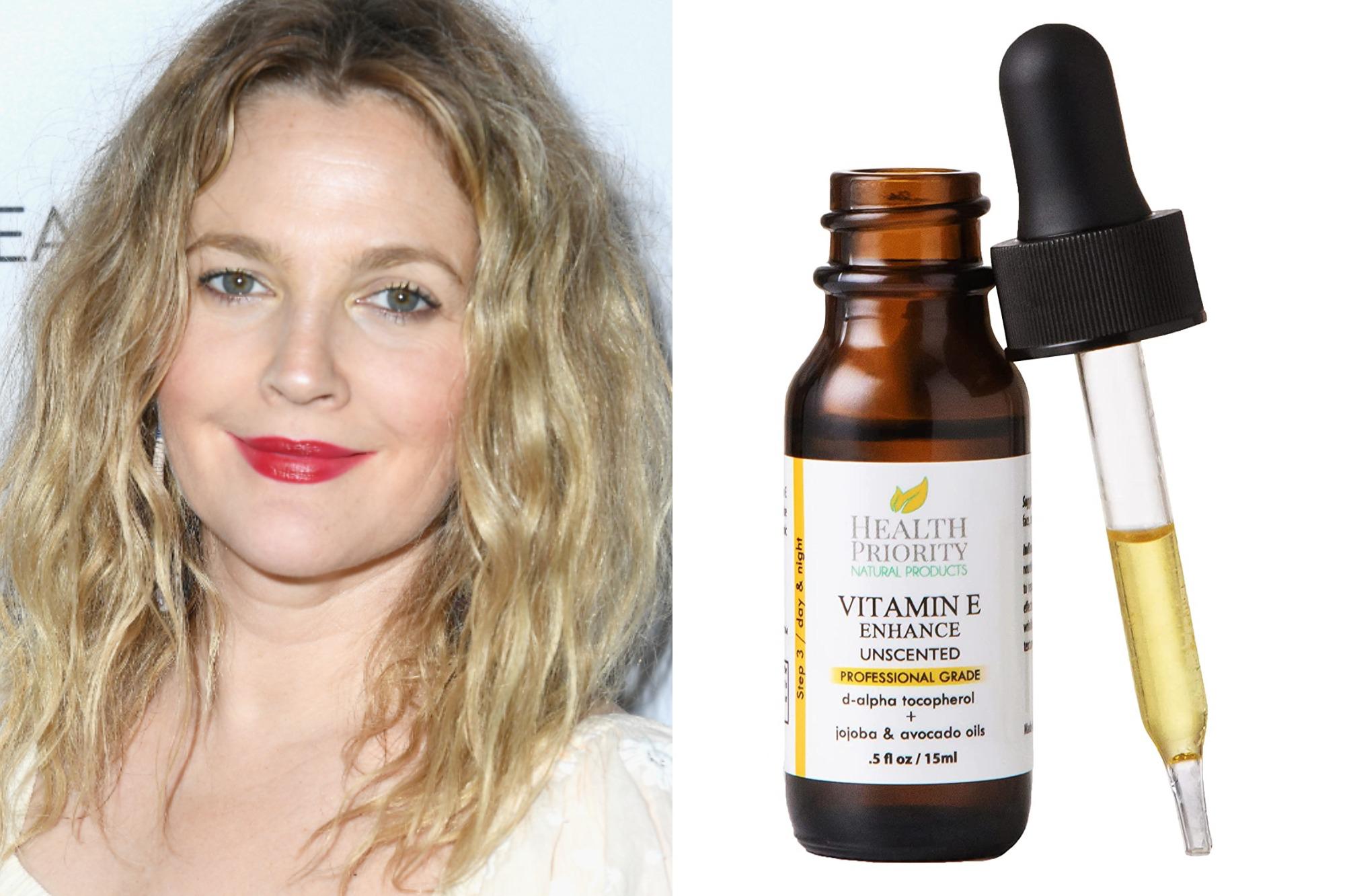 drew barrymore vitamin e oil