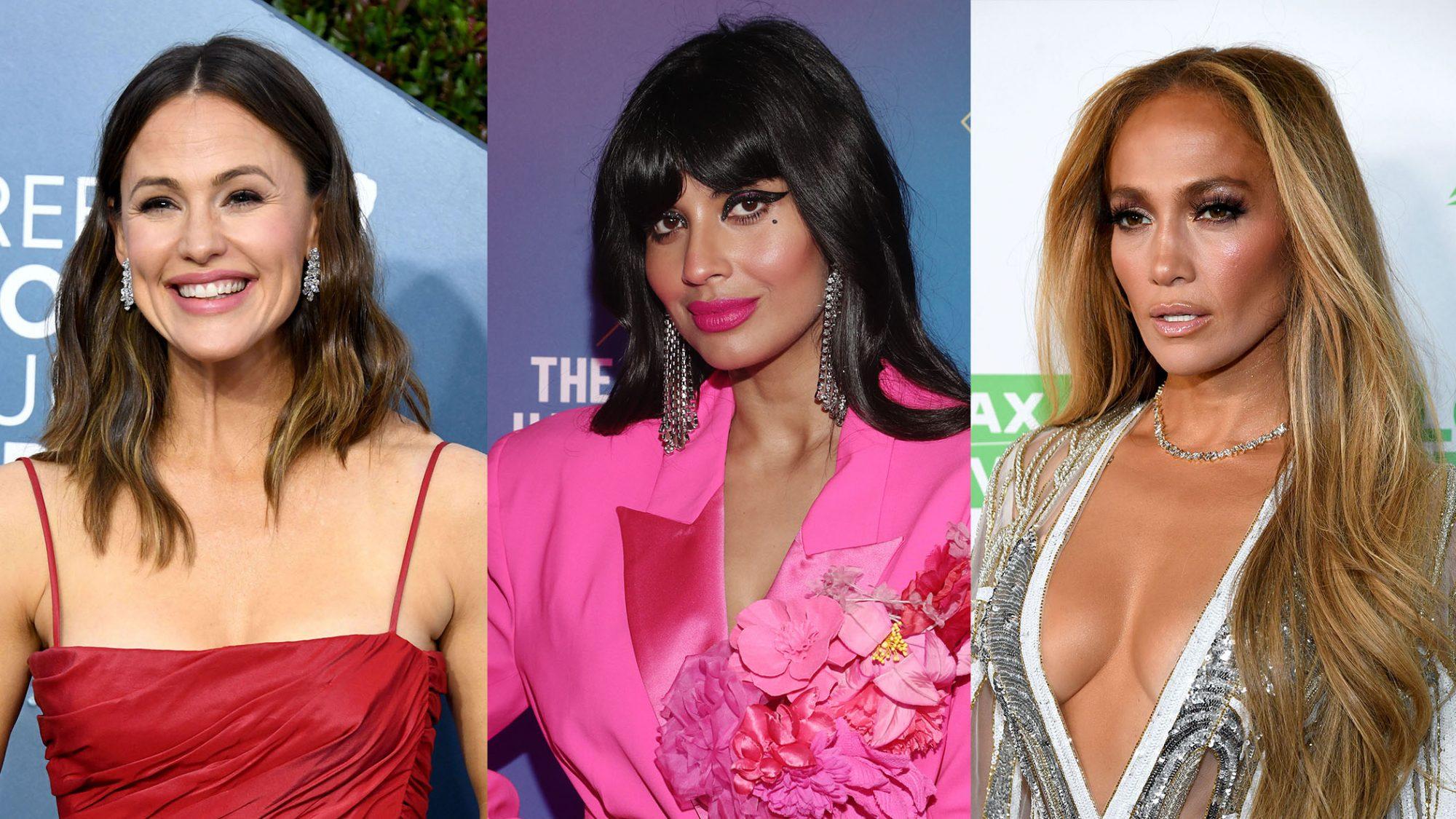 Jennifer Garner, Jameela Jamil, and Jennifer Lopez