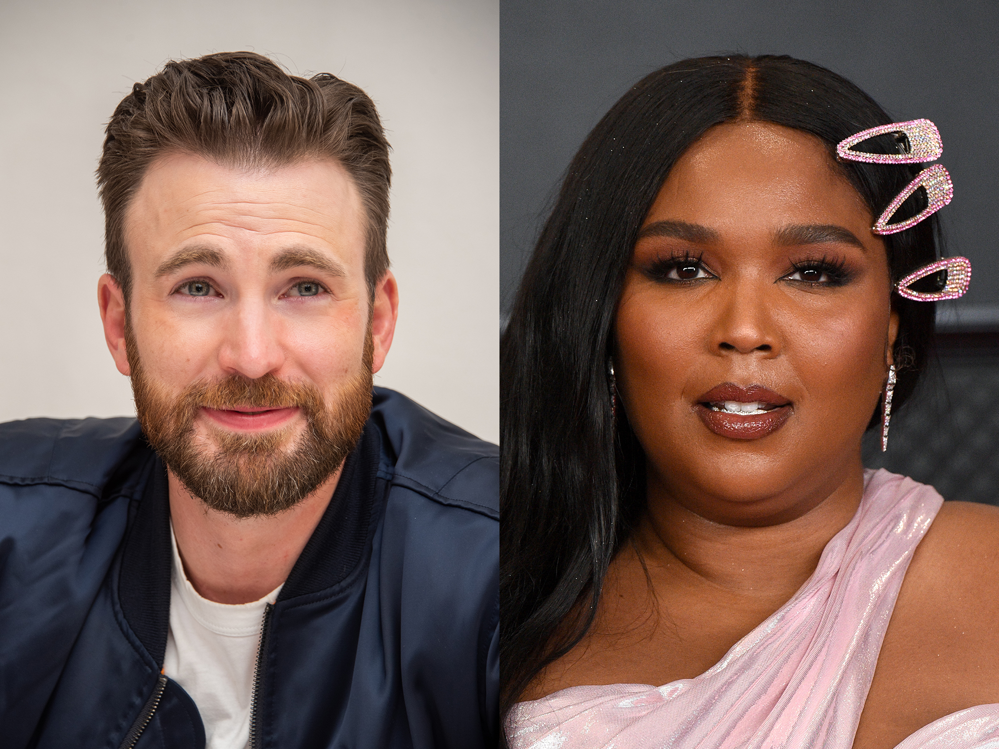 Chris Evans and Lizzo