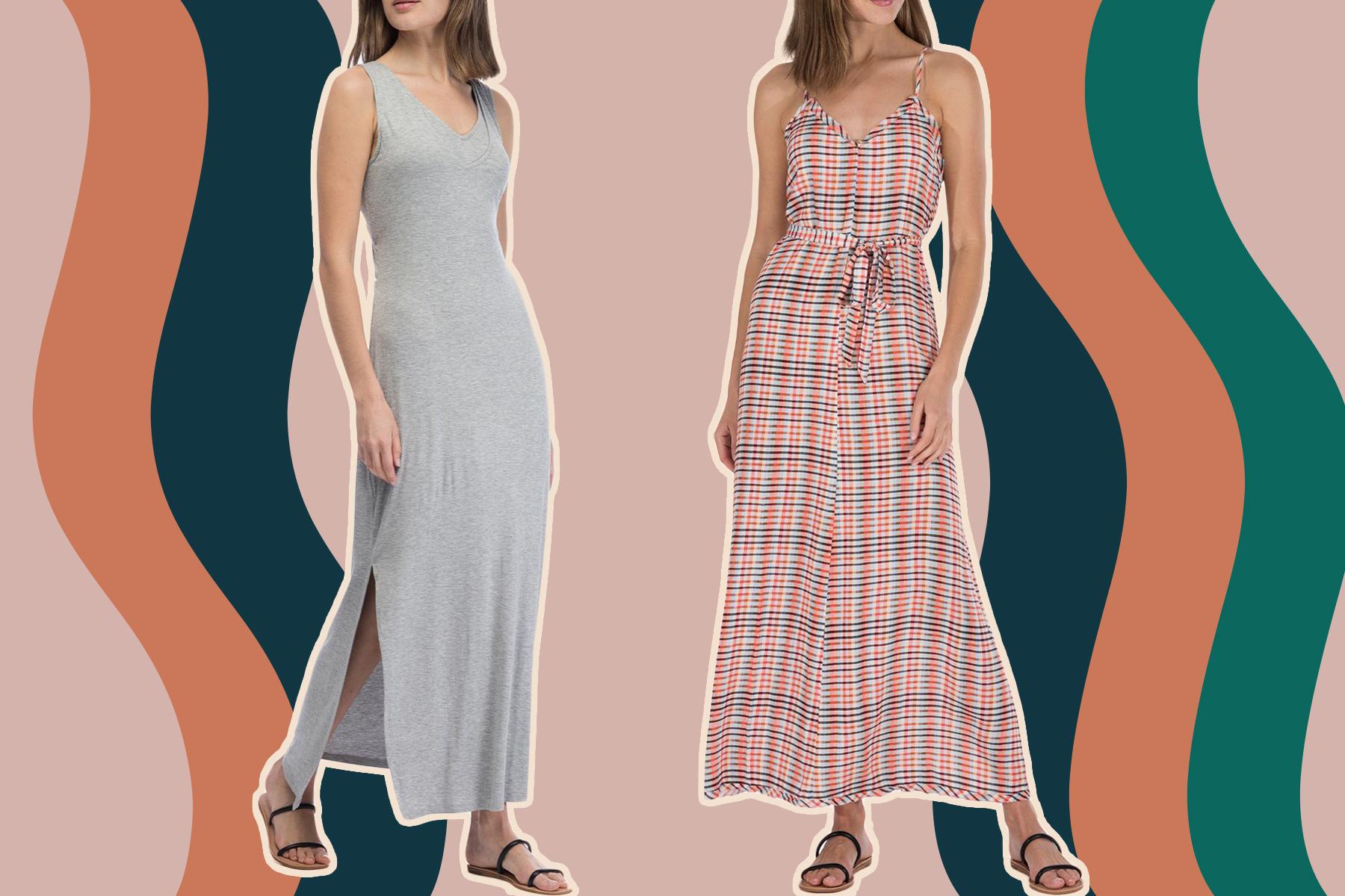 bobeau maxi dresses for petite