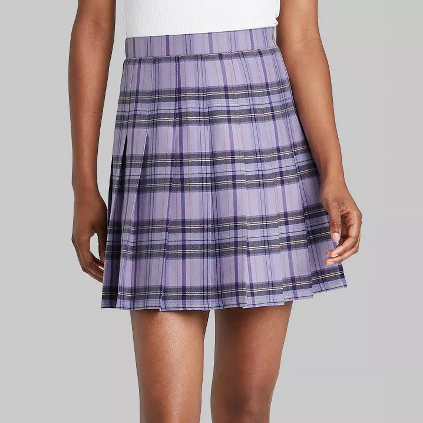 target plaid skirt