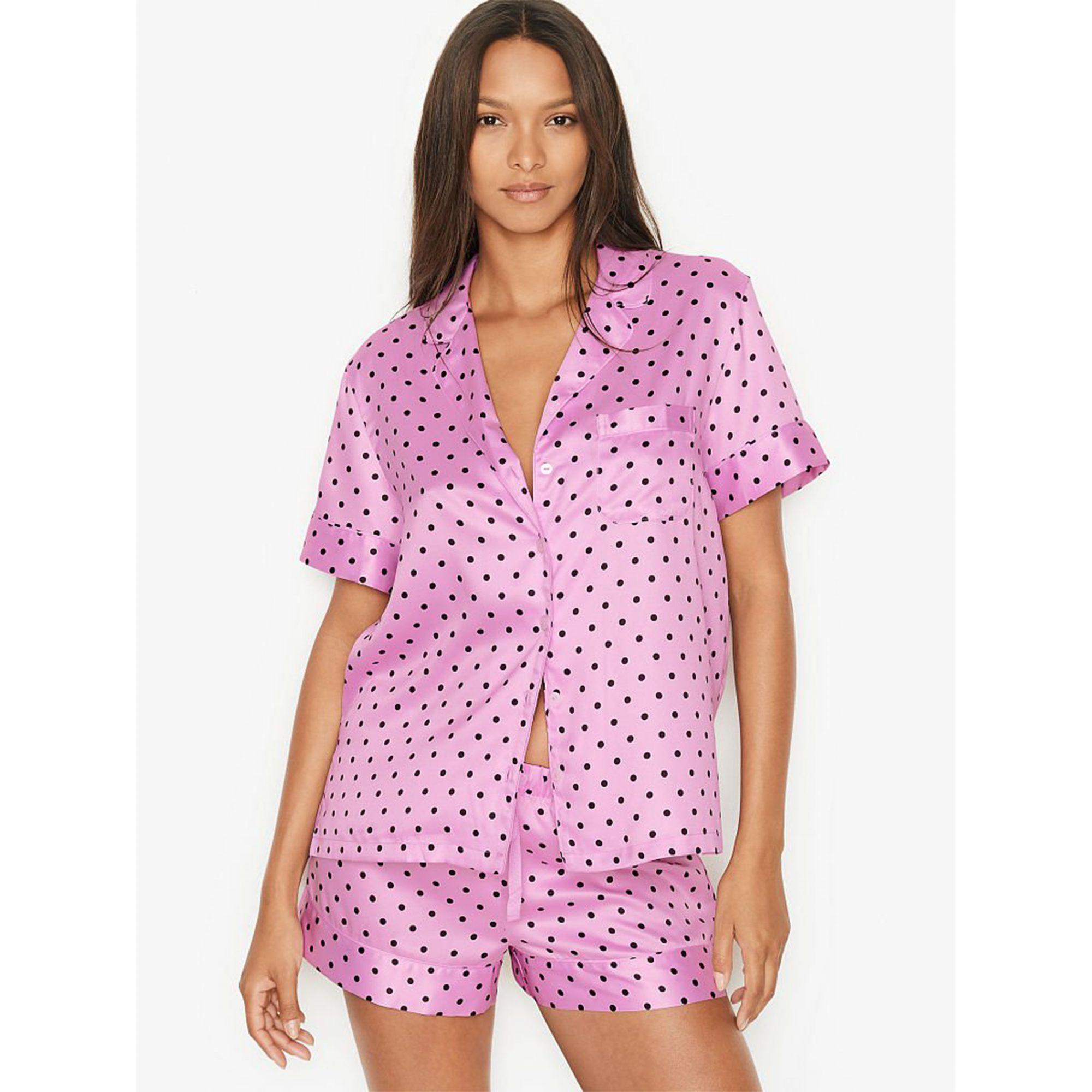 victoria-secret-satin-pajama-set
