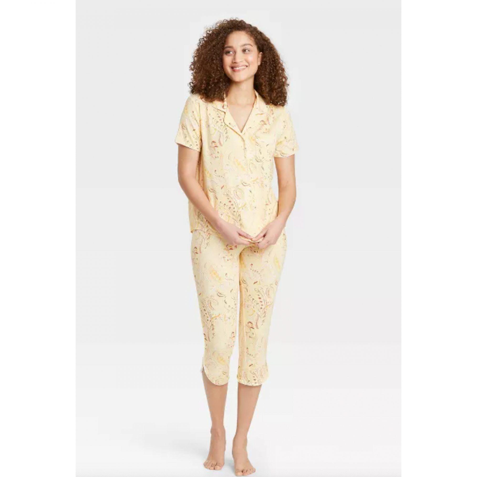 cropped-pajamas-set