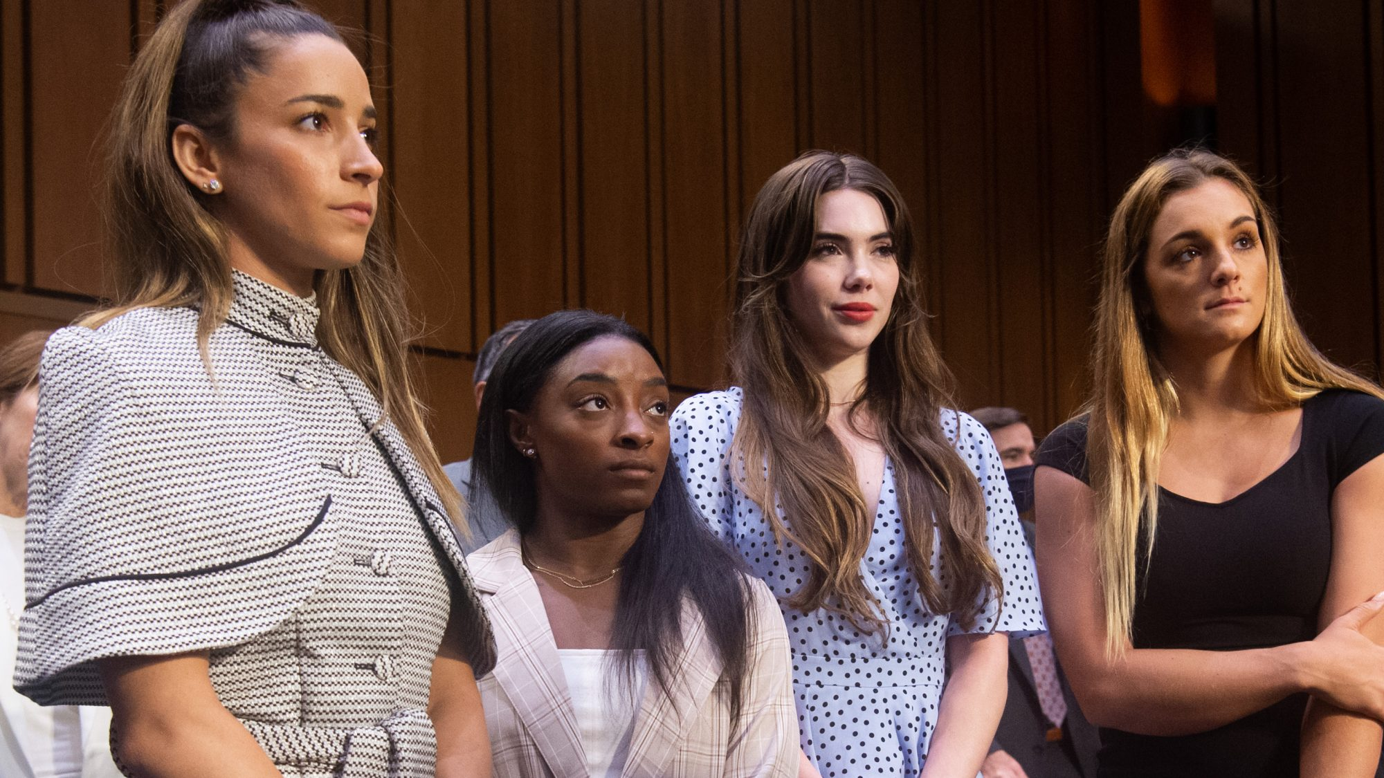 Olympic gymnasts at Larry Nassar trial