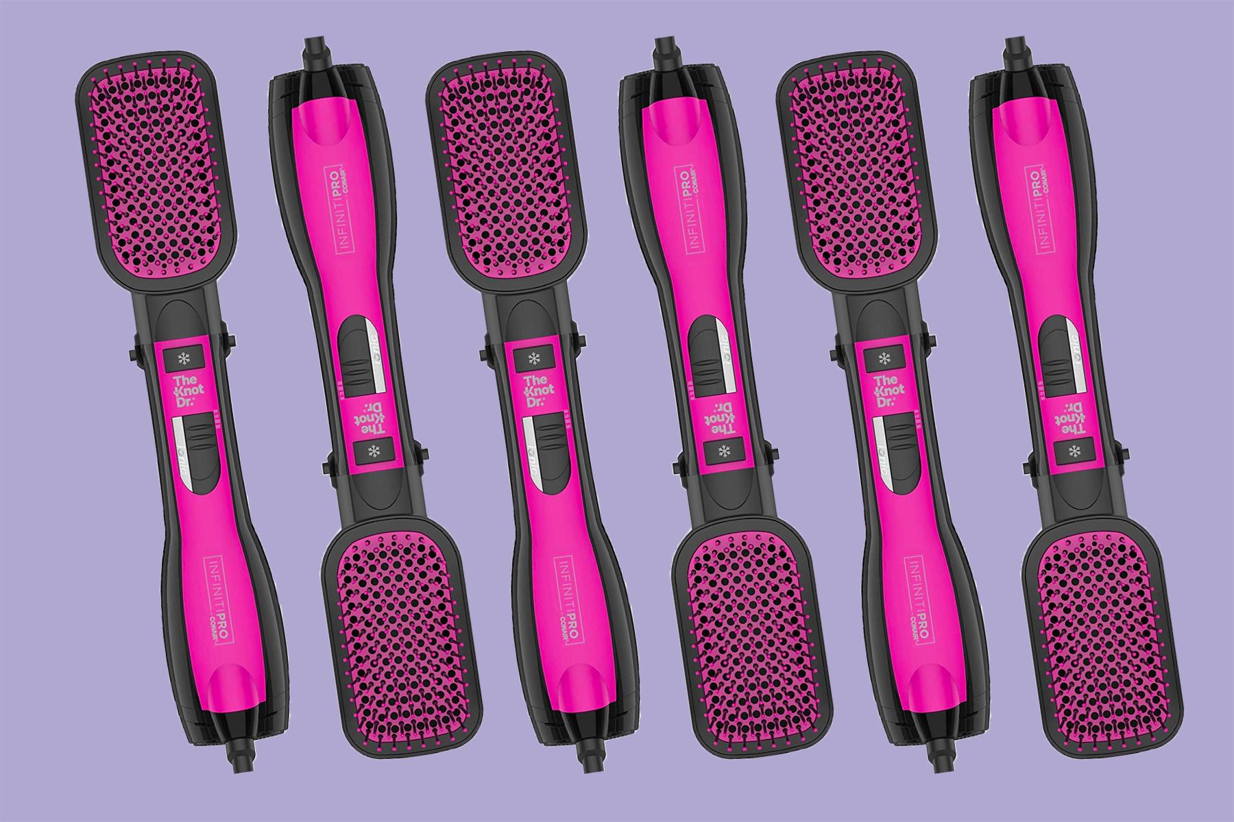 pink blow dryer