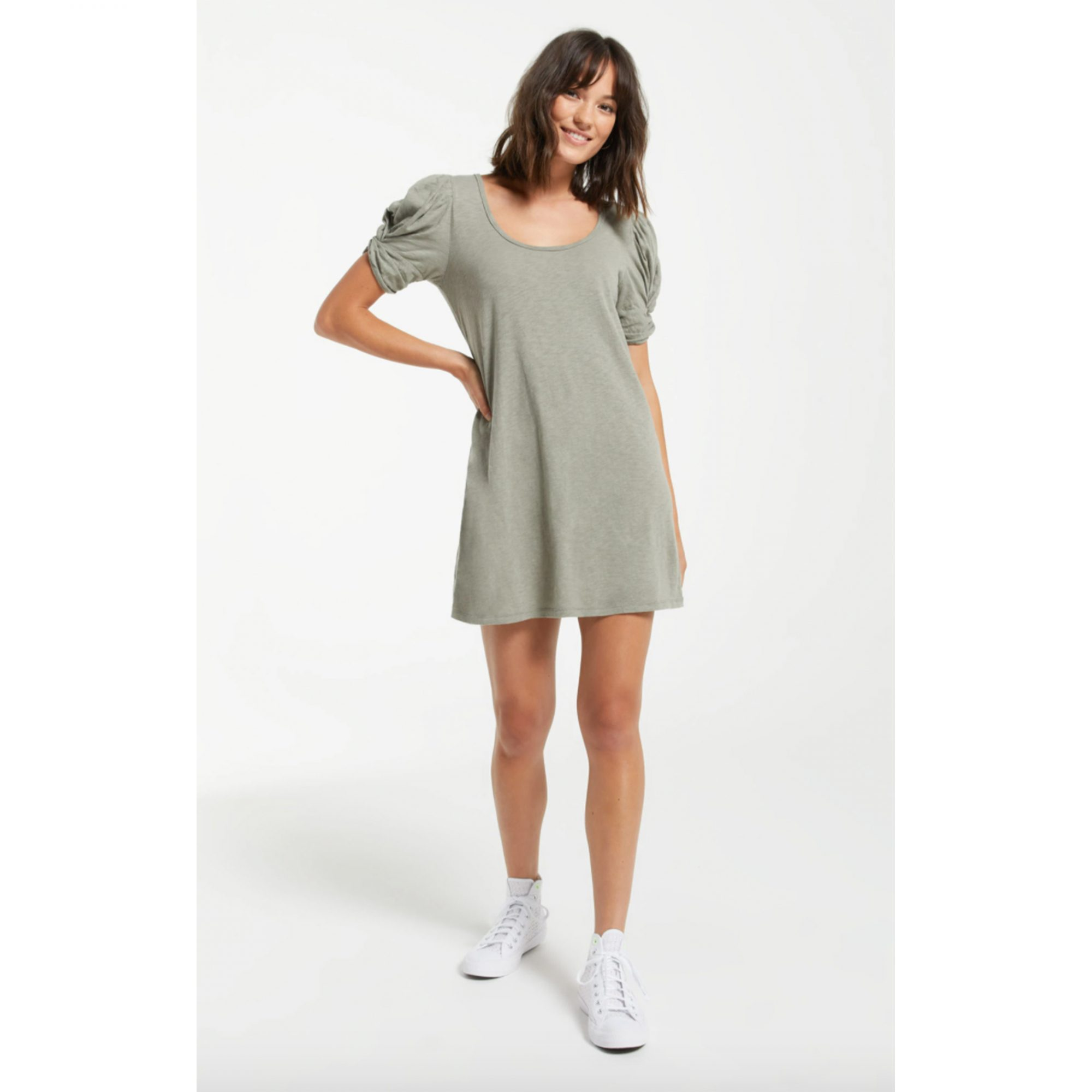z-supply-puff-sleeve-dress