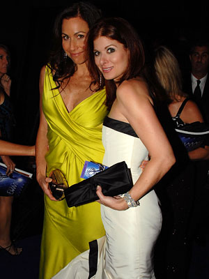 Minnie Driver, Debra Messing, Governor's Ball, 2007 Emmys After-parties