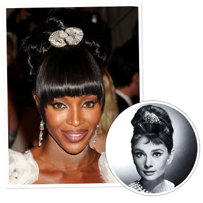 Naomi Campbell - Audrey Hepburn - Updo Hair - Classic Hairstyles