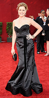 Jenna Fischer - Reem Acra - Fashion Trends - 2009 Emmy Awards