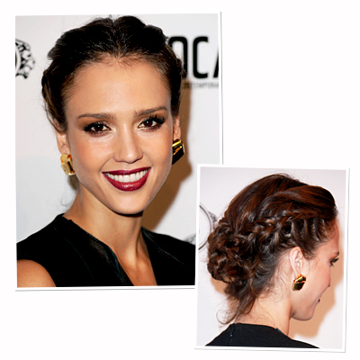 Jessica Alba-hair-braid