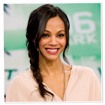 Zoe Saldana-braid-hair