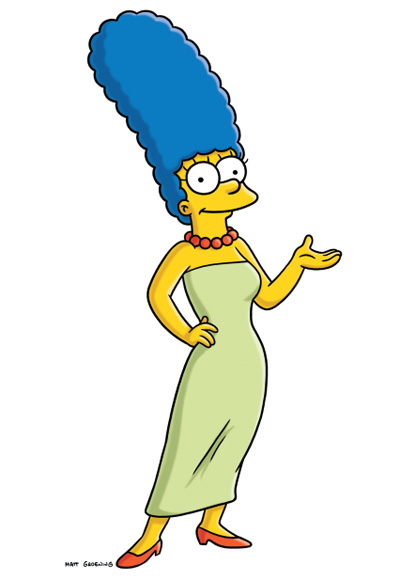 Marge Simpson - The Most Fashionable TV Housewives - The Simpsons