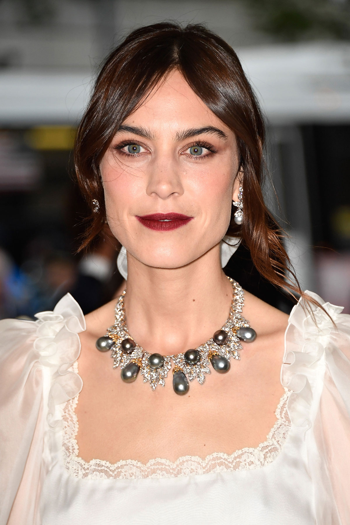 Alexa Chung's Low-Maintenance Updo