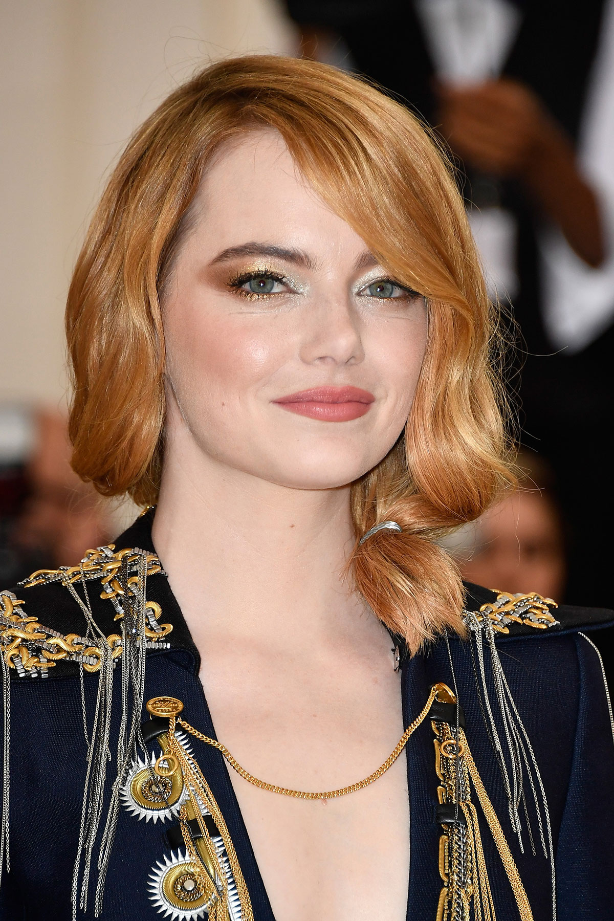 Emma Stone's Loose Low Ponytail