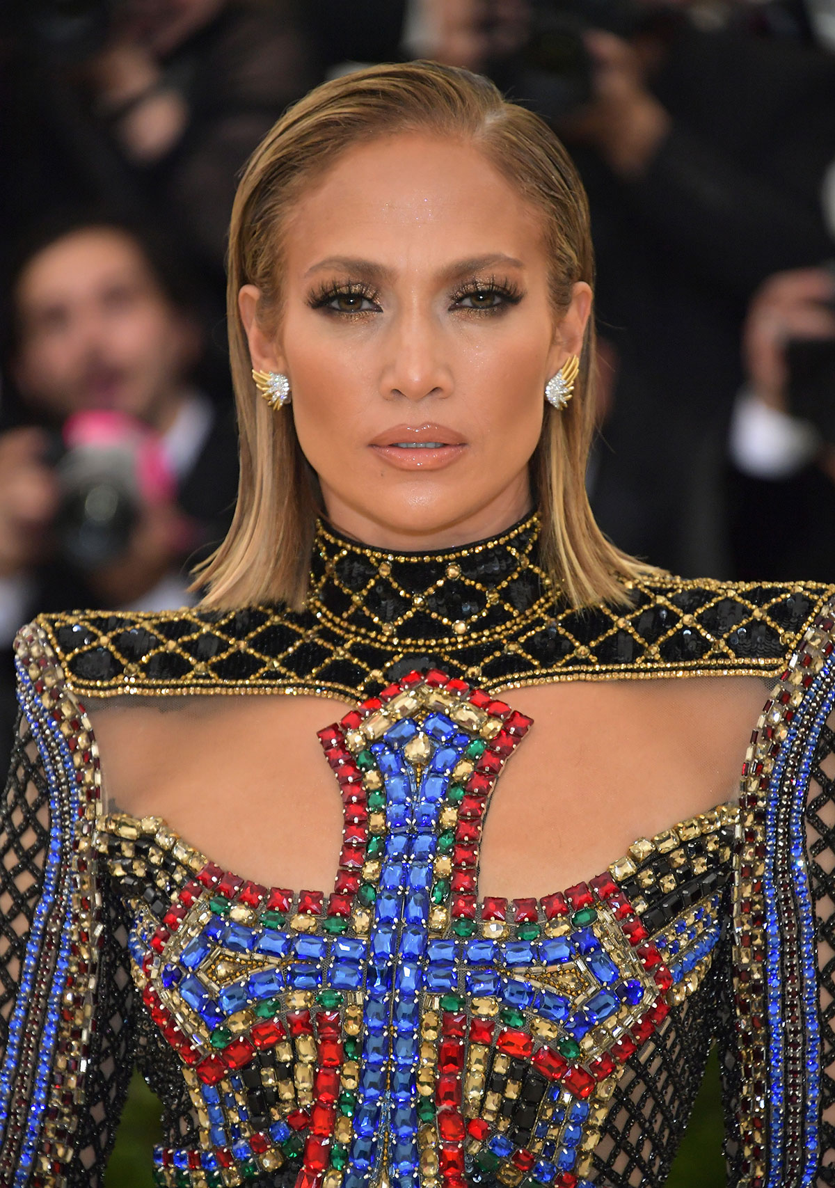 Jennifer Lopez's Slicked-Back Lob
