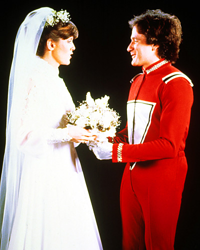 Robin Williams and Pam Dawber - Mork and Mindy wedding