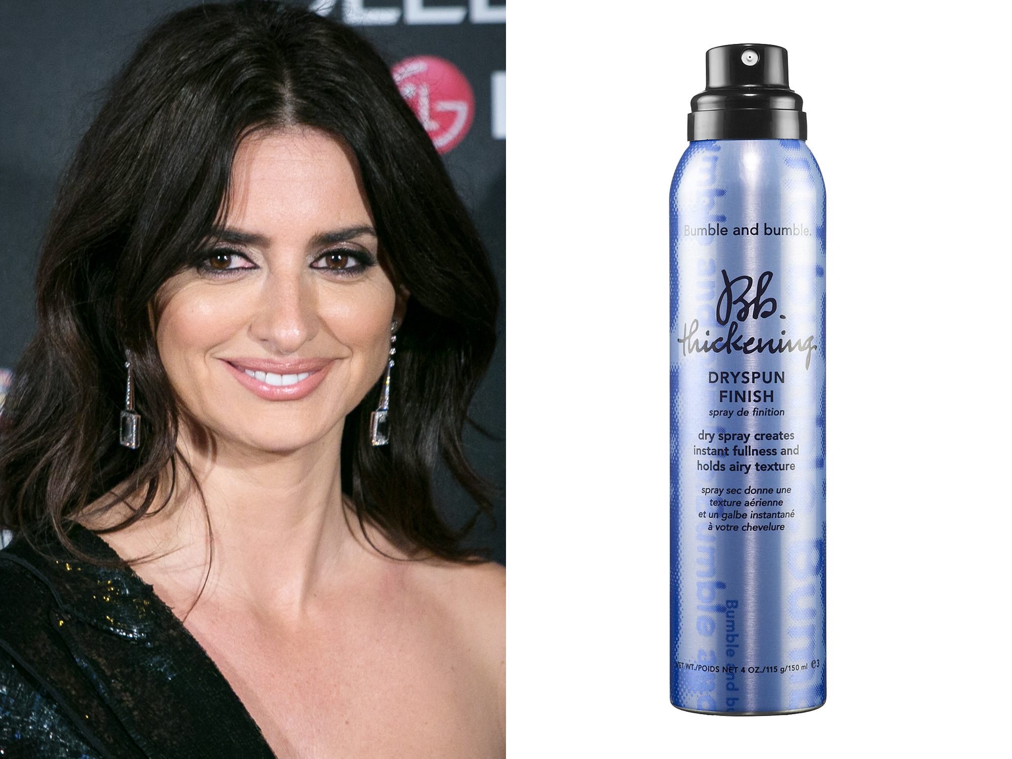 Penelope Cruz: Bumble and bumble Dryspun Thickening Spray