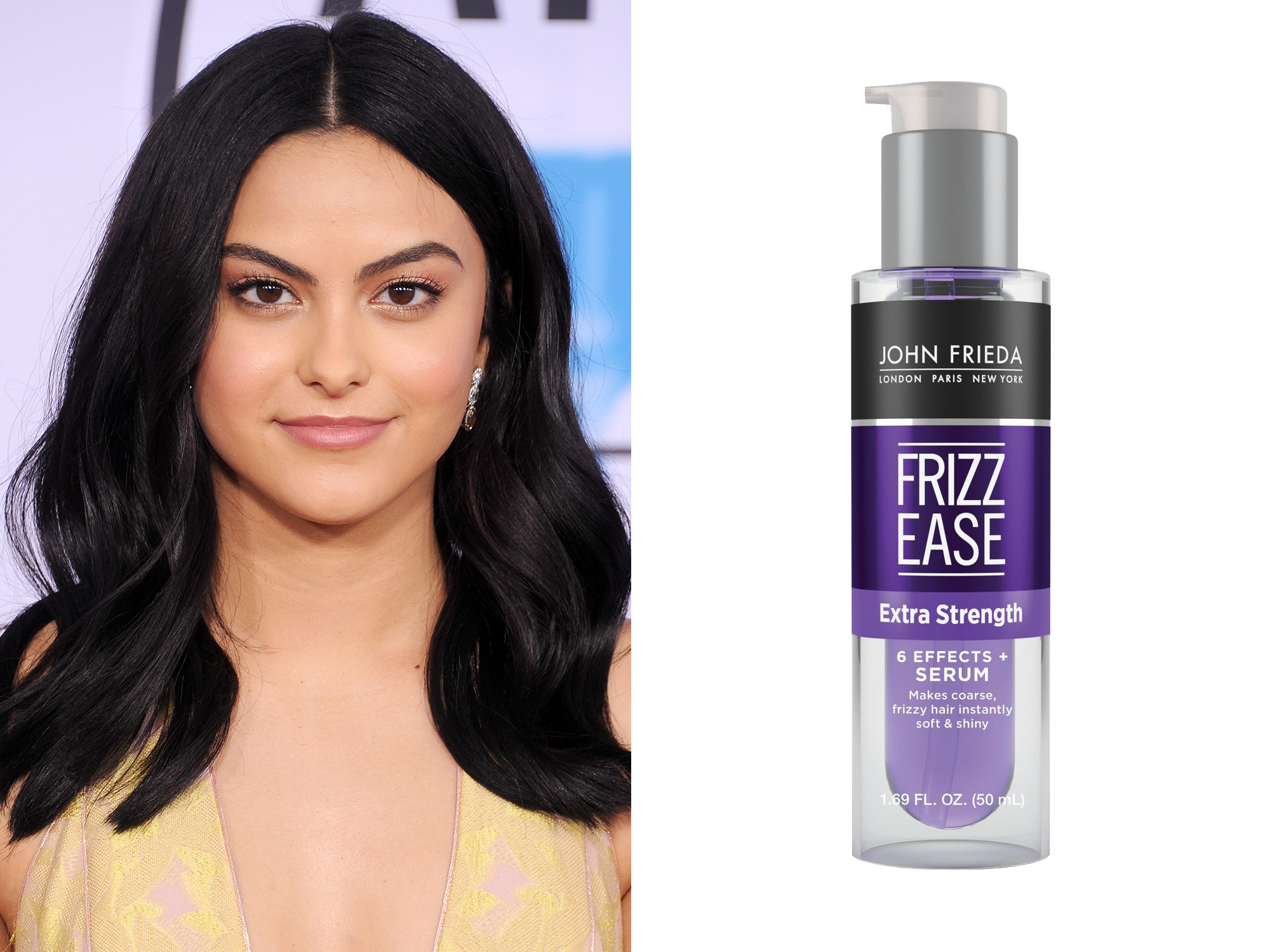 Camila Mendes: John Frieda's Frizz Ease Extra Strength Serum
