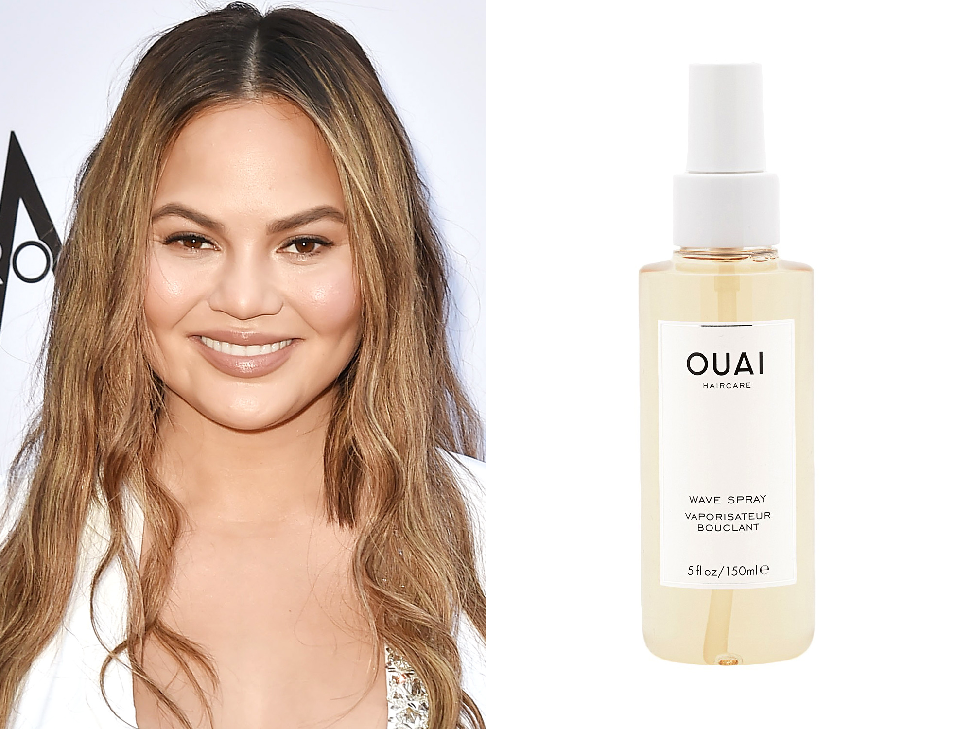 Chrissy Teigen: Ouai Wave Spray