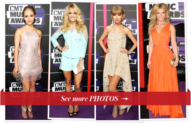 AnnaSophia Robb, Carrie Underwood, Taylor Swift and Kimberly Perry at the 2013 CMT Awards