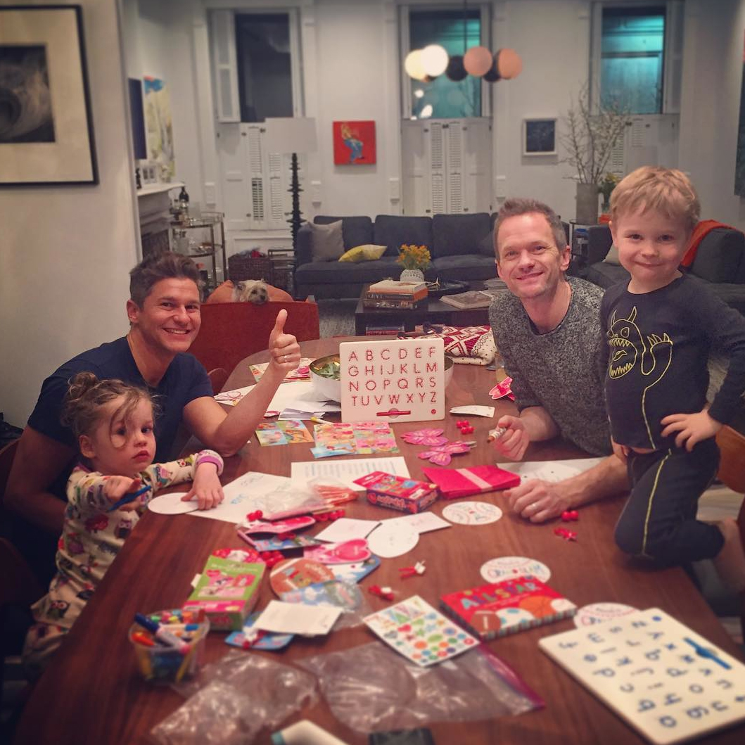 Neil Patrick Harris, David Burtka, and Their Twins