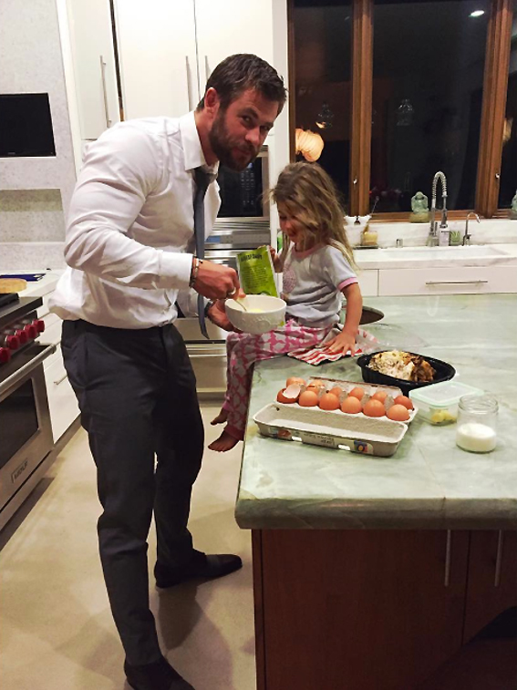 Chris Hemsworth and his daughter, India Rose