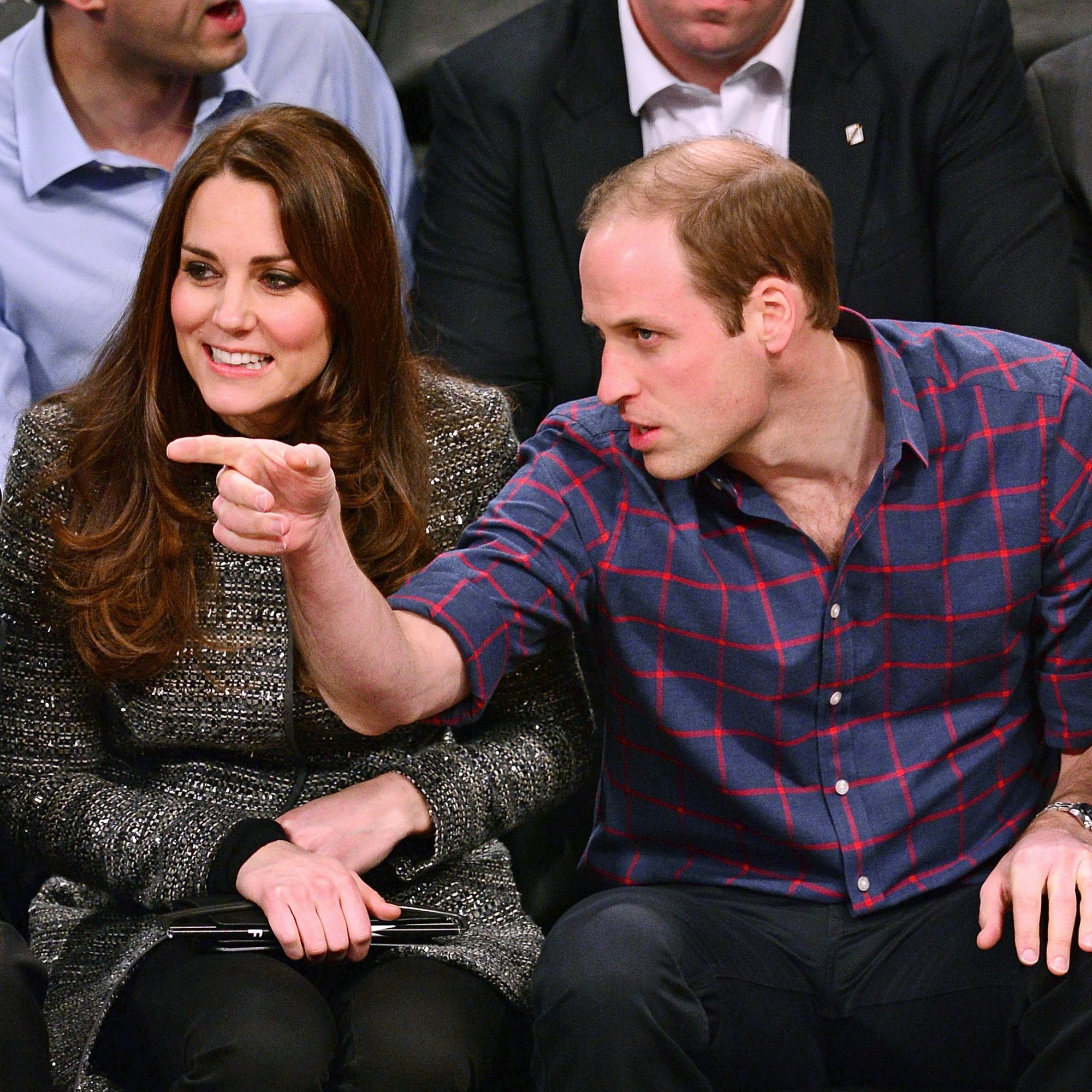 The Duke And Duchess Of Cambridge Attend Cleveland Cavaliers v. Brooklyn Nets