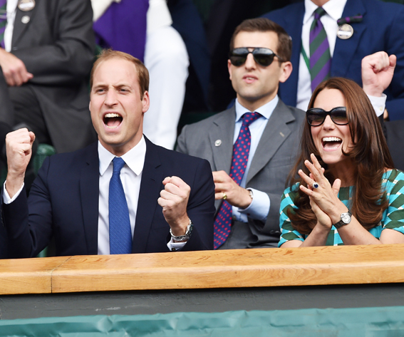 Catherine, Duchess of Cambridge and Prince William, Duke of Cambridge attend the mens singles final between Novak Djokovic and Roger Federer