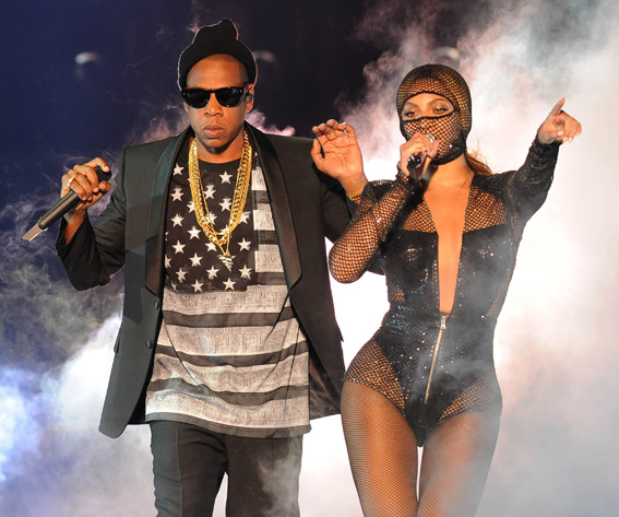 Beyonce and Jay-Z in concert