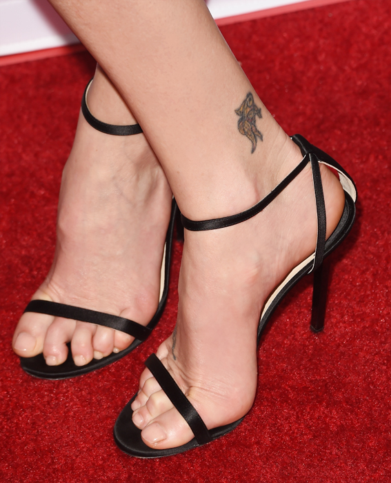 Charlize Theron Ankle Tattoo