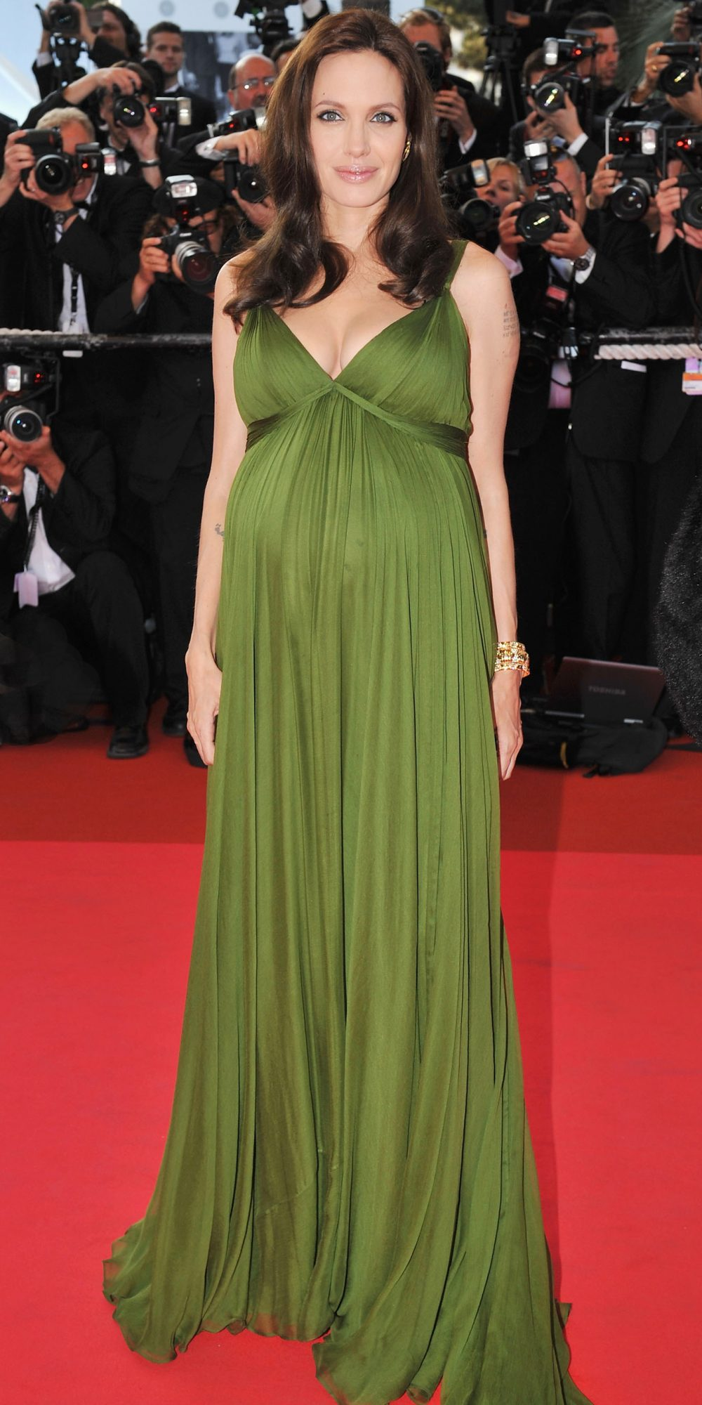 Angelina Jolie in Max Azria Aterlier, 2008 Cannes Film Festival, Cannes Best Dressed, Fashion