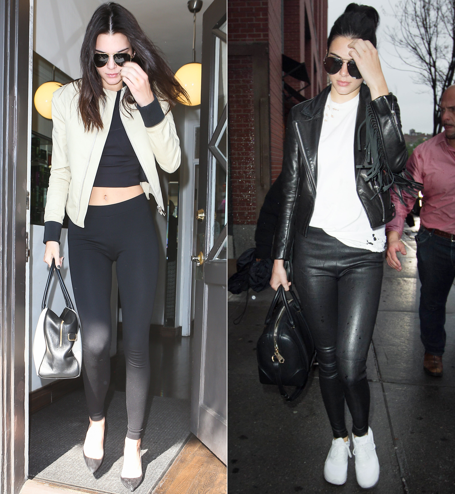 Celebs in Leggings Lead